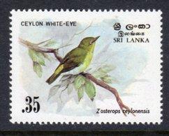 SRI LANKA - 1983 35c LARGE WHITE-EYE BIRD STAMP FINE MNH ** SG 828 - Sri Lanka (Ceylon) (1948-...)