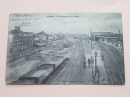 L'Intérieur De La GARE > ALOST ( Uitg. Vve Cornelis ) Anno 1910 ( Zie/voir Photo ) ! - Aalst