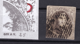 N° 6 Margé VARIETE CERCLE  Planche IV A - 1851-1857 Medallions (6/8)