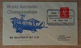 1970 GB RAF HULLAVINGTON WORLD AEROBATIC CHAMPIONSHIPS - Postcards