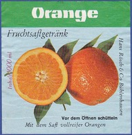 Label/ Étiquette - ORANGE Fruchtsagetränk - Fruits & Vegetables