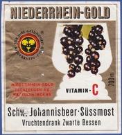 Label/ Étiquette - NIEDERRHEIN-GOLD Vitamin C - Fruits & Vegetables