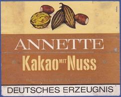 Label/ Étiquette - ANNETTE Kakao Mit Nuss / Deutsches Erzeugnis - Frutta E Verdura