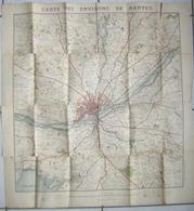 Carte Des Environs De Nantes - Avril 1897 état Voir Le Scan - Cartes Géographiques