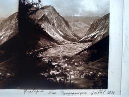 PRALOGNAN (73) -  STEREO - Vue Panoramique - Juillet 1934 - Plaque De Verre 17x 8,5 - Superbe - Diapositivas De Vidrio