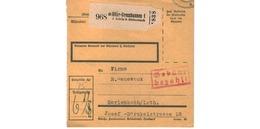 Allemagne  -  Colis Postal  - De Höhr - Grenzhausen 1 -  08/2/1943 - Allemagne