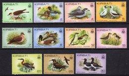 KIRIBATI - 1982 SHORT SET OF BIRD STAMPS TO 30c (11V) FINE MNH ** SG 163-172 - Kiribati (1979-...)