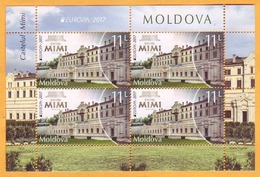 2017  Moldova Moldavie Moldau. Europa-cept 2017 Castle. Mimi. Bulboaca. H-Blatt - 2017