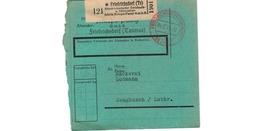 Allemagne  -  Colis Postal  - De Friedrichsdorf  - Milupa Fabrik  -  04/2/1943 - Allemagne
