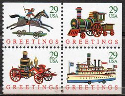 USA 1992 Christmas - Contemporary Booklet Pane - United States