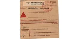 Allemagne  -  Colis Postal  - De Braunschweig 2 -  01/2/1943 - Allemagne
