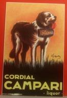 Cordial CAMPARI Liquor Dog Cane  Riproduzione CARTOLINA Non Viaggiata - Pubblicitari