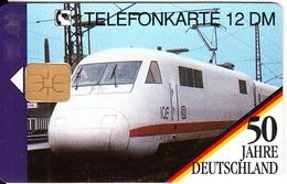 GERMANY - 50 Jahre Deutschland/vom TEE Zum ICE 1(O 304), Tirage 15000, 10/92, Mint - Germania