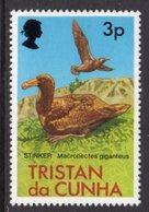 TRISTAN DA CUNHA - 1977 3p HALL'S GIANT PETREL BIRD STAMP FINE MNH ** SG 222 - Tristan Da Cunha