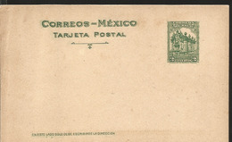J) 1920 MEXICO, COLONIAL SOURCE, POSTCARD, POSTAL STATIONARY - Mexico