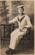 Postcard HMS Severn Portrait Of Sailor Signed David Lloyd Dated 18-7 -18 WW1 RP [ Damaged ] My Ref  B13643 - Warships