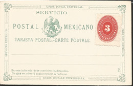 J) 1895 MEXICO, MEXICAN POSTAL SERVICE, EAGLE, 3 CENTS NUMERAL, FOREIGN SERVICE, UPU, POSTCARD, POSTAL STATIONARY - Mexico