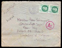 1943 - N° 518 X2 - Paris Du 20/11/43 Vers L'Allemagne - Marcophilie (Lettres)