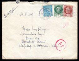 1943 - N° 517 + 518 + 549 - Paris Du ../08/43 Vers L'Allemagne - 1921-1960: Moderne