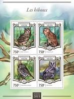 Niger 2015. [nig15121] Owls (s\s+block) - Owls