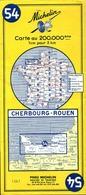 5 Cartes Routières Michelin N°54/55/64/68/85 - Cartes Routières