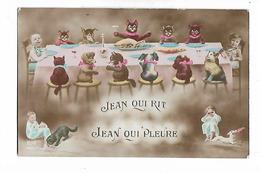 """"""" Jean Qui Rit ,  Jean  Qui Pleure """"  Chats , Chiens Et Bébés  A La Table - Bébés"""