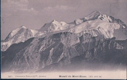 POSTAL FRANCIA - MASSIF DU MONT BLANC - CHARNAUX FRERES & CO - CIRCULADA - Chamonix-Mont-Blanc