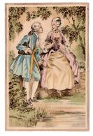 CP Couple Romantique Style Marquis Marquise Regard Amoureux - Illustrators & Photographers