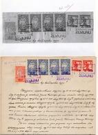 1919 VERIGARI, YUGOSLAVIA, ZEMUN, CHAIN BREAKERS, ERROR ON 2 KRUNA STAMP, 1 KR, 2X10 KR, POSTAL STAMP USED AS REVENUE, - 1919-1929 Kingdom Of Serbs, Croats And Slovenes