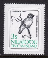 TONGA NIUAFO'OU - 1983 3S RED-HEADED PARROT FINCH BIRD STAMP SELF-ADHESIVE ON BACKING PAPER FINE MNH ** SG 29 - Tonga (1970-...)