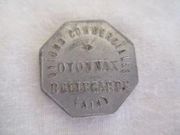 Le Jeton 10 Cts Unions Commerciales Oyonnax Bellegarde (Ain) - Monétaires / De Nécessité