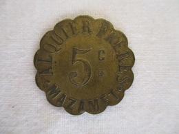 Le Jeton 5 Cts Alquier Frères - Ville De Mazamet 1917 - Monétaires / De Nécessité