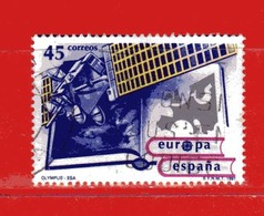 (1Us) )  SPAGNA °- 1991 - EUROPA, Satellite Olympus. Unif. 2726. - 1931-Oggi: 2. Rep. - ... Juan Carlos I