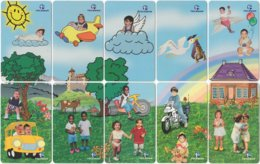 BRASIL J-279 Magnetic Telemar - People, Children - 10 Pieces - Used - Brasilien
