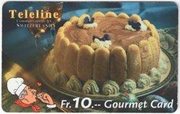 SWITZERLAND C-807 Prepaid Teleline - Food, Sweet, Cake - Used - Suiza