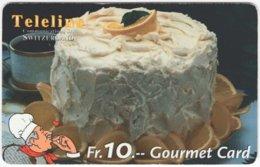 SWITZERLAND C-808 Prepaid Teleline - Food, Sweet, Cake - Used - Suiza