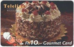SWITZERLAND C-812 Prepaid Teleline - Food, Sweet, Cake - Used - Suiza