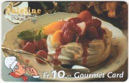 SWITZERLAND C-814 Prepaid Teleline - Food, Sweet, Cake - Used - Suiza