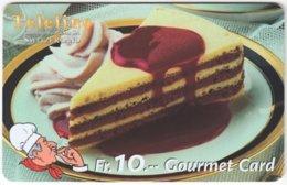 SWITZERLAND C-817 Prepaid Teleline - Food, Sweet, Cake - Used - Suiza