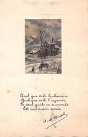 Quel Que Soit Le Chemin... A. De Musset - Citation - Paysage D'hiver - Schrijvers