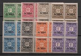Niger - 1921 - Taxe TT N° Yv. 1 à 8 - Série Complète En Blocs De 4 - Neuf GC ** / MNH / Postfrisch - Niger (1921-1944)