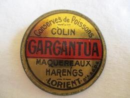 Monnaie De Nécessité: Monnaie-timbre Conserves De Poissons Colin Gargantua Lorient 10 Centimes (rare) - Monétaires / De Nécessité
