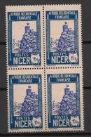 Niger - 1926 - N°Yv. 47B - Zinder 1f75 - Bloc De 4 - Neuf Luxe ** / MNH / Postfrisch - Unused Stamps