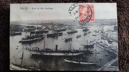 CPA Malta Malte FLEET IN THE HARBOUR FLOTTE DANS LA PORT   1915  ECRITE A LA VALETTE BATEAUX - Malta