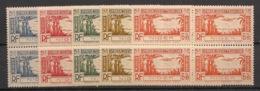 Niger - 1940 - Poste Aérienne PA N° Yv. 1 à 5 - Série Complète En Blocs De 4 - Neuf Luxe ** / MNH / Postfrisch - Unused Stamps