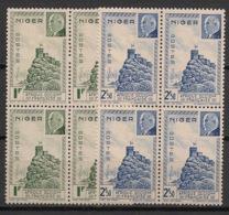 Niger - 1941 - N° Yv. 93 à 94 - Pétain - Blocs De 4 - Neuf Luxe ** / MNH / Postfrisch - Unused Stamps