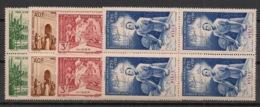 Niger - 1942 - Poste Aérienne PA N° Yv. 6 à 9 - Série Complète PEIQI - Blocs De 4 - Neuf Luxe ** / MNH / Postfrisch - Unused Stamps