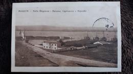 CPA AUGUSTA PORTO MEGARESE DARSENA CAPITANERIA E DEPOSITO SICILIA 1915 - Autres Villes