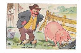 Budou    -    Paysan  Et  Cochon - Humour
