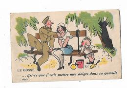 """""""  Le  Gosse  """"  - Soldat , Jeune Mère Et  Petit Enfant - Umoristiche"""